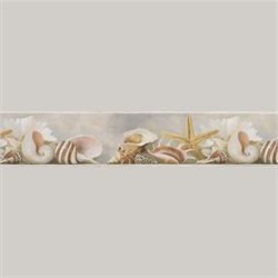 Shells Wallpaper Border Multi Earth