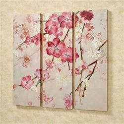 Majestic Blooms Canvas Triptych Pink Set of Three