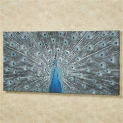 Majestic Peacock Canvas Wall Art Multi Cool
