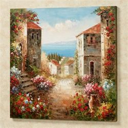 Villa Toscana Canvas Wall Art Multi Warm