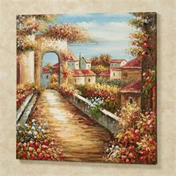 Afternoon Stroll Canvas Wall Art Multi Warm