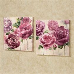Emma Rose Floral Canvas Art Multi Pastel Set of Two