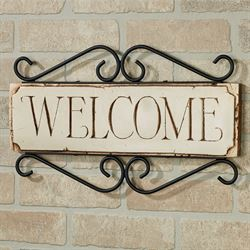 Welcome Wall Plaque - English English