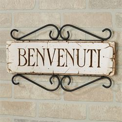 Welcome Wall Plaque - Italian Italian