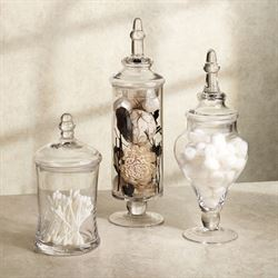 Aris Glass Apothecary Jar Set Clear
