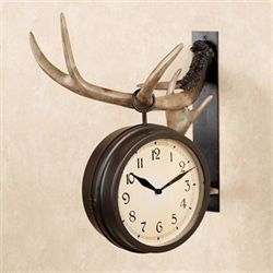 Buckley Hanging Wall Clock Dark Beige