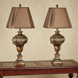 Rivera Table Lamp Dark Amber