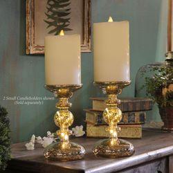 Fahrla Lighted Candleholder Platinum Small