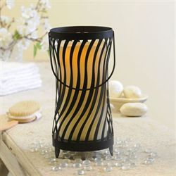 Melinda Musical LED Candleholder Black
