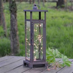 Twinkling Twilight LED Lantern Brown