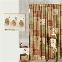 Sheffield Leaf Shower Curtain Multi Warm 70 x 72