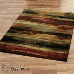 Painted Festival Rectangle Rug Multi Warm