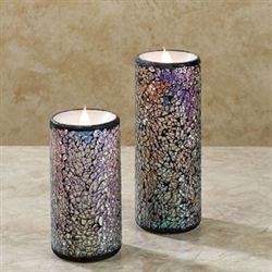 Mystic Mosaic LED Candle Multi Metallic