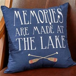 Memories Are Made Pillow Midnight 16 Square