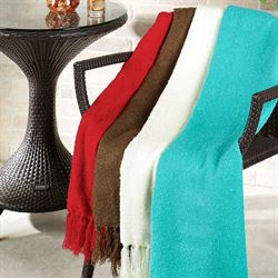 Fringed Throw Blanket 52 x 76