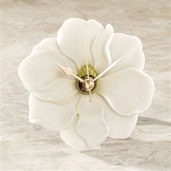 Magnolia Table Clock Ivory