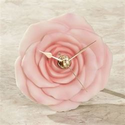 Rose Table Clock Pink