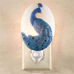 Peacock Nightlight Blue