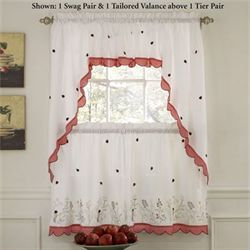 Ladybug Meadow Tailored Tier Pair White