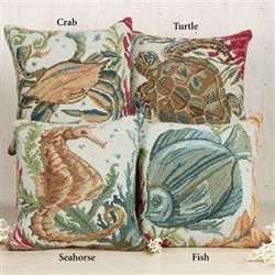 Sealife Crab Pillow Multi Earth 18 Square