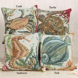 Sealife Crab Pillow Multi Earth 18 Square