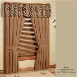 Chaco Canyon Wide Tailored Curtain Pair Tawny 100 x 84