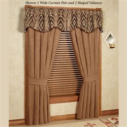 Chaco Canyon Shaped Valance Tawny 50 x 18