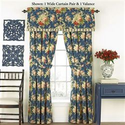 Sanctuary Rose Wide Curtain Pair Denim 100 x 84
