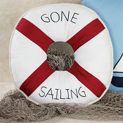 Gone Sailing Tailored Round Pillow Navy 16 Round