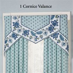 Chalet Bleu Cornice Valance Set Light Blue Three Piece Set