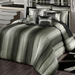 Horizons Grande Quilted Bedspread Charcoal