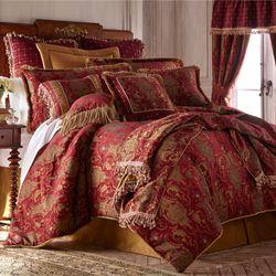 China Art Red Comforter Set Ruby
