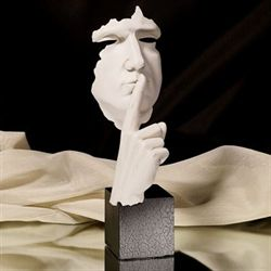 Hands Hushing Sculpture White