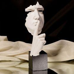 Hands Hushing Sculpture White