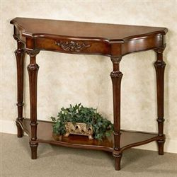 Serpentine Console Table Autumn Cherry