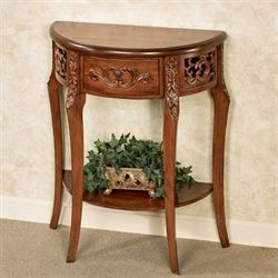 Lune Console Table Regal Walnut