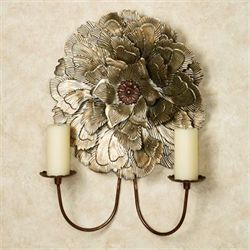 Delicate Blossom Wall Sconce Champagne Gold