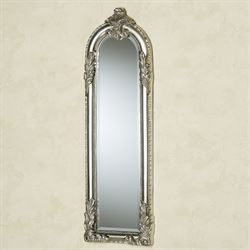 Royal Acanthus Panel Wall Mirror Antique Silver