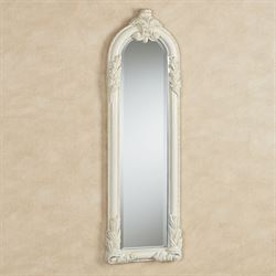 Royal Acanthus Panel Wall Mirror Antique White