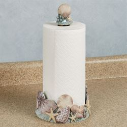 At the Beach Paper Towel Holder Blue