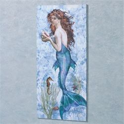 Underwater Beauty Canvas Wall Art Light Blue