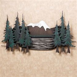Mountain Lake Wall Sculpture