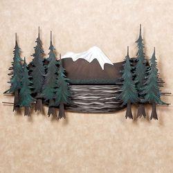 Mountain Lake Wall Sculpture