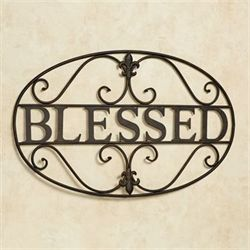 Blessed Wall Art Aged Bronze