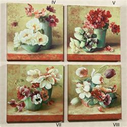 Ceramique Fleurie IV Canva