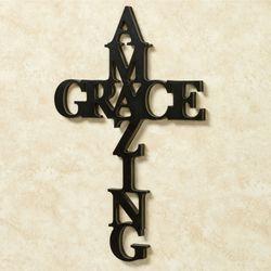 Amazing Grace Word Wall Art Black