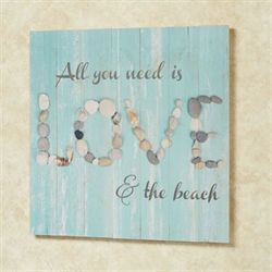 Beach Love Wall Plaque Multi Cool