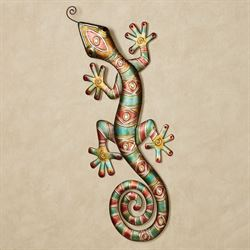 Southwest Gecko Metal Wall Art Multi Jewel