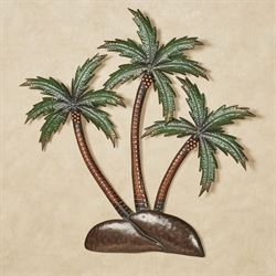 Palm Island Wall Art Green