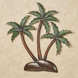 Palm Tree Island Tropical Metal Wall Art